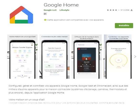 Google home pour PC
